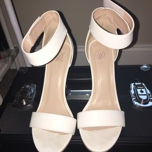 White pair of sandals